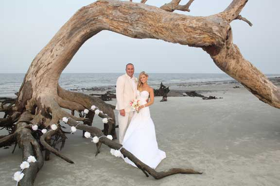 Driftwood Beach Jekyll Island Georgia Weddings